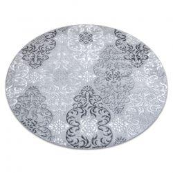Dywan MEFE nowoczesny 8734 Koło Ornament - Strukturalny, dwa poziomy runa szary