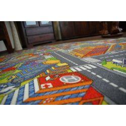 Wykładzina dywanowa ULICZKI BIG CITY szary