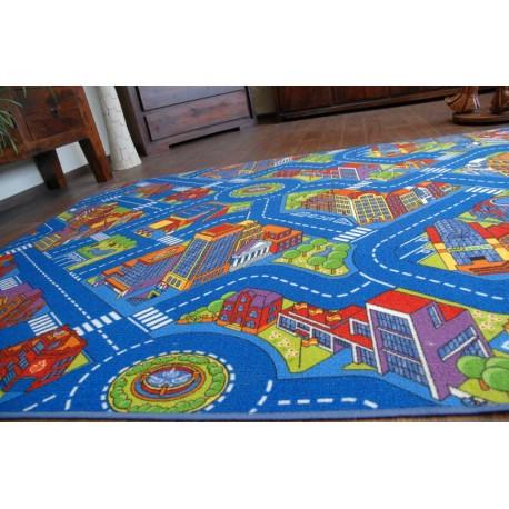 Wykładzina dywanowa ULICZKI BIG CITY niebieski