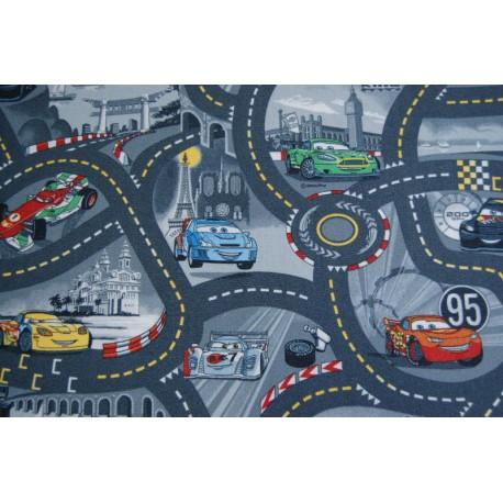 Wykładzina dywanowa CARS 97 szary
