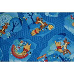 Wykładzina dywanowa KUBUŚ PUCHATEK WOODLAND niebieski