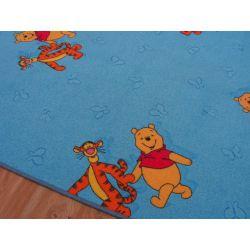 Wykładzina dywanowa KUBUŚ PUCHATEK niebieski