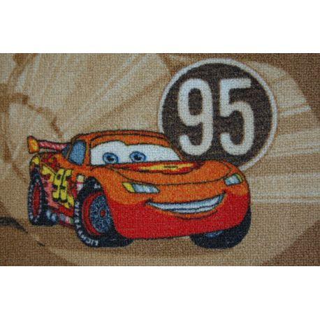 Wykładzina dywanowa DISNEY CARS beż