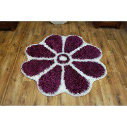 Dywan SHAGGY GUSTO Kwiatek C300 fiolet