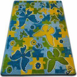 Dywan KIDS Butterfly niebieski C429