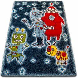 Dywan KIDS Roboty czarny C419