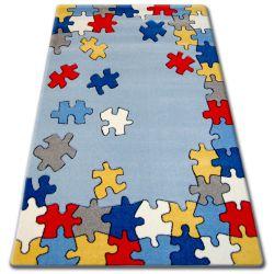 Dywan dziecięcy HAPPY C212 niebieski Puzzle
