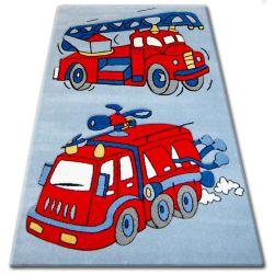 Dywan dziecięcy HAPPY C190 niebieski Wóż Strażacki