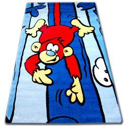 Dywan dziecięcy HAPPY C176 niebieski Małpa