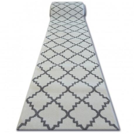 Chodnik SKETCH F343 biało/szara koniczyna marokańska trellis